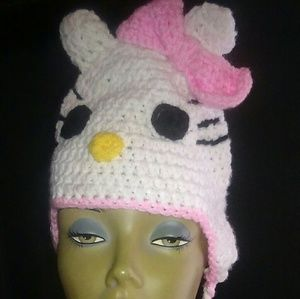 Hello Kitty Crochet hat.